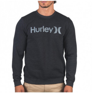 Sudadera Hurley: One And Only Crew (Black Smoke Gry)