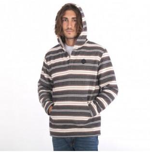 Sudadera Hurley: Modern Surf Poncho Sherpa LS HD (Oil Gray)