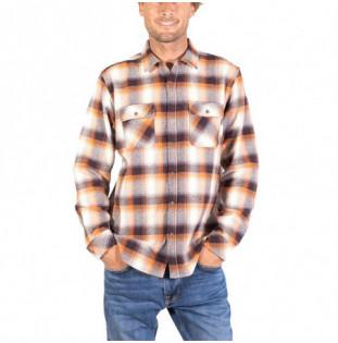 Camisa Hurley: Santa Cruz Hvwt Flannel LS (Velvet Brown)