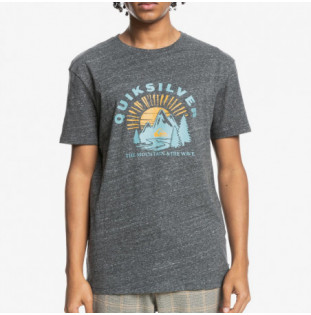 Camiseta Quiksilver: Mountain Side SS (Charcoal Heather) Quiksilver - 1