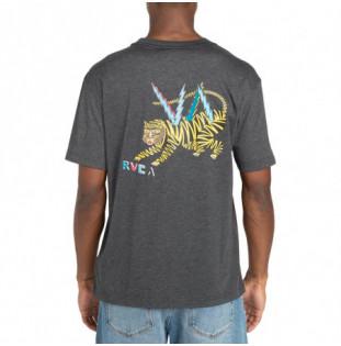 Camiseta RVCA: Ml Tiger (Dark Charcoal)