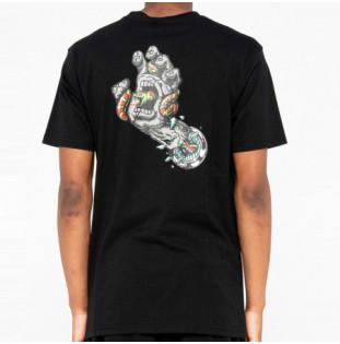 Camiseta Santa Cruz: Tee Pool Snakes Hand (Black)