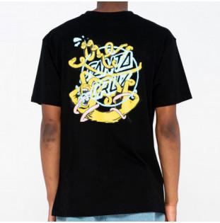 Camiseta Santa Cruz: Tee Ermsy Twisted Hand (Black) Santa Cruz - 1