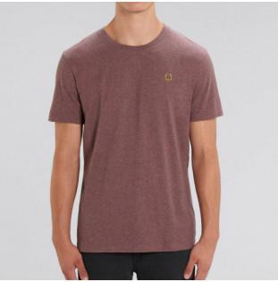 Camiseta Atlas: Okendo Tee (Black Heather Cranberry)