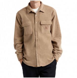 Camisa Brixton: Bowery LS Fleece (Oatmeal) Brixton - 1
