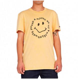 Camiseta DC Shoes: Round We Go TSS (Golden Rod Acid Wash)
