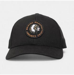 Gorra Brixton: Rival Stamp X Mp Mesh Cap (Black)