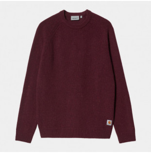 Jersey Carhartt: Anglistic Sweater (Speckled Wine)