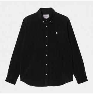 Camisa Carhartt: LS Madison Cord Shirt (Black Wax) Carhartt - 1