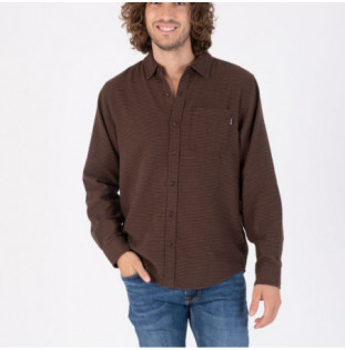 Camisa Hurley: Organic Portland Flannel LS (Velvet Brown)