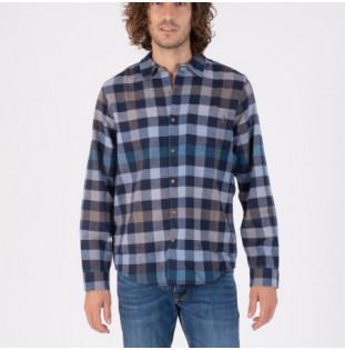 Camisa Hurley: Organic Portland Flannel LS (Light Army)
