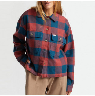 Camisa Brixton: Bowery W LS Flannel (Captain Blue)