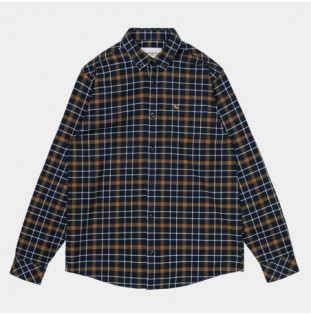 Camisa Carhartt: LS Baxter Shirt (Baxter Check Astro Tawny)
