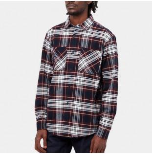 Camisa Carhartt: LS Dunbar Shirt (Dunbar Check Wine) Carhartt - 3
