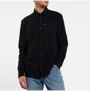 Camisa Volcom: Caden Solid LS (Black) Volcom - 1