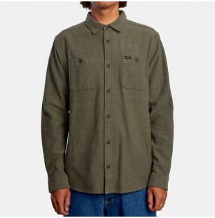 Camisa RVCA: Harvest Flannel LS (Olive) RVCA - 1