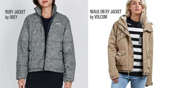 Ruby Jacket de Obey y Walk on by de Volcom para chica