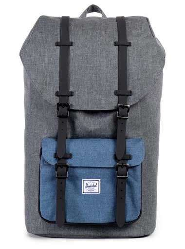Mochila Herschel Little America (Charcoal Cross NY Black)