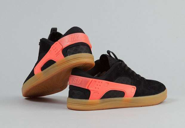 Nike SB Eric Koston Huarache Black Hot Lava Gum 4