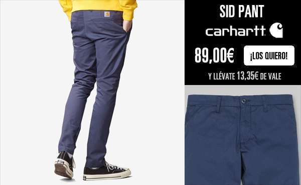 Newel Pant de Carhartt en color Hamilton Brown (izda) o Tobacco Rinsed (dcha)