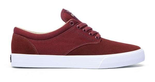 Zapatillas Supra Chino (Burgundy Khaki White)