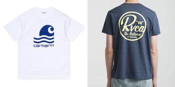 Camisetas con logo de Carhartt y RVCA