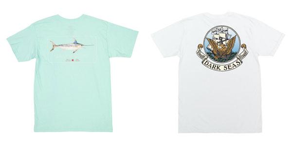 Camisetas de inspiración marina de Salty Crew y Dark Seas