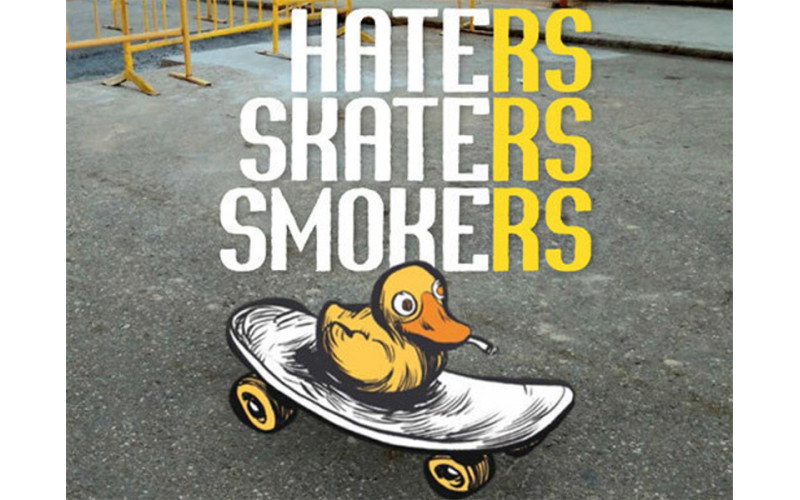 Haters Skaters Smokers, cómic y monopatinismo